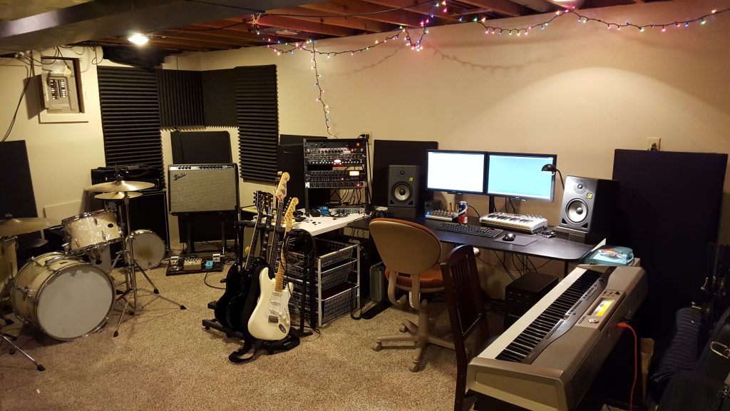 A picture of my home recording studio