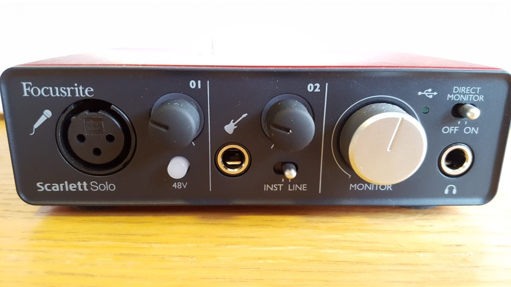 Recording interface - Focusrite Scarlett Solo