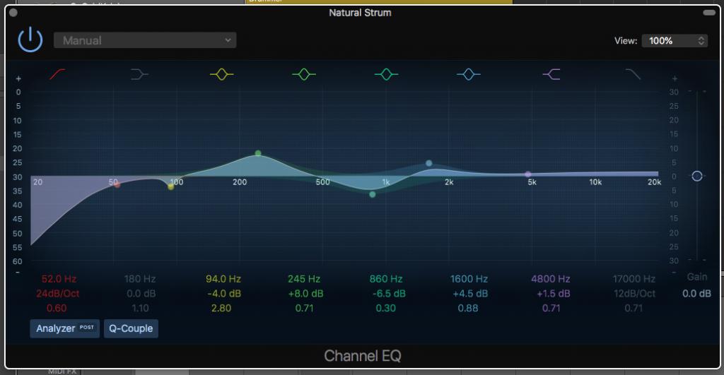 Frequencies on a parametric EQ