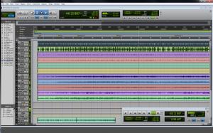 Screenshot of a Pro Tools session