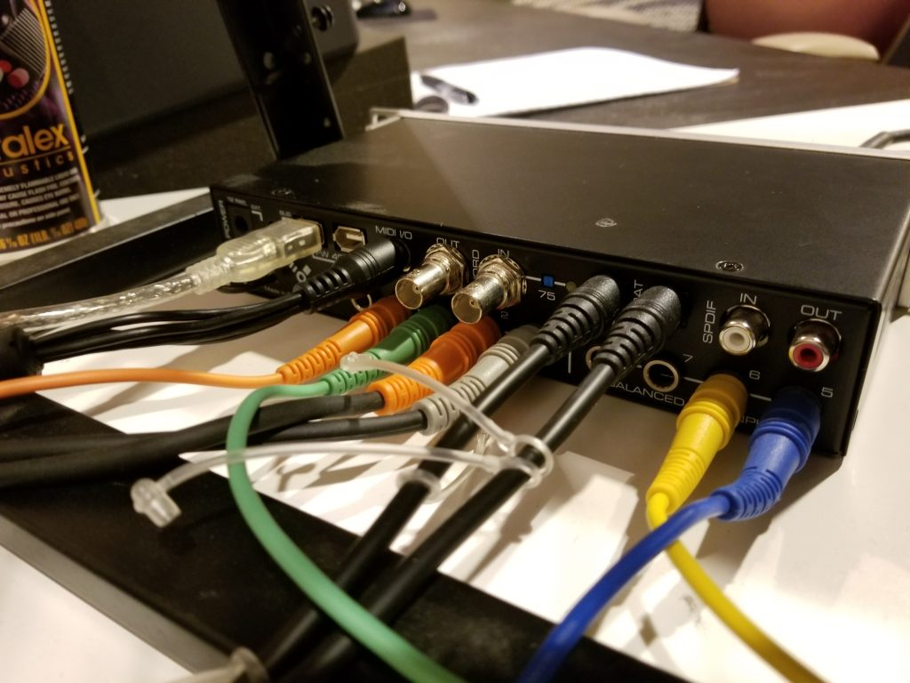 Inputs and Outputs on an RME Fireface 400 Audio Interface